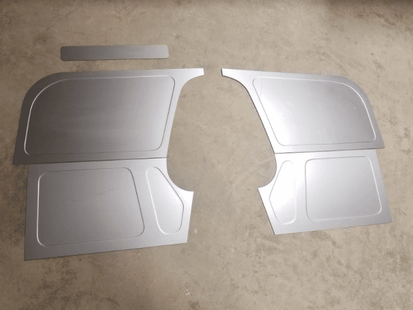 1960-1966 GM / Chevy Truck Bead Rolled Toe Boards - Filler Panels