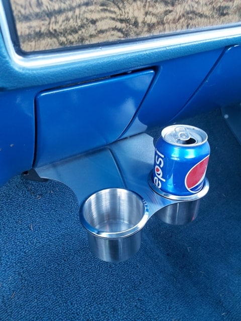 1947-1972 GMC Chevy Truck Cup Holder installed