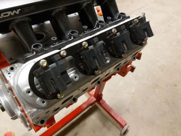 LS Fabrication Coil Pack Brackets Installed