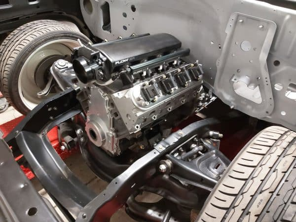 LS Fabrication Coil Pack Brackets Installed engine