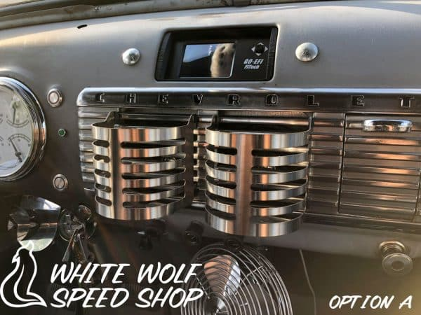 1947-1954 Custom GMC Chevy Truck Cup Holders White Wolf Installed