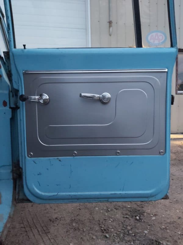1967-1971 GMC Chevy Truck Suburban Rear Door Panels installed